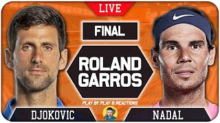 🔴 DJOKOVIC vs NADAL | French Open 2020 | LIVE Tennis Play-by-Play