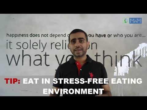 Eat Stress Free - Health Management Tip