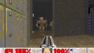 Doom II (100%) Walkthrough (Map06: The Crusher)