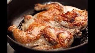 Рецепт приготовления цыпленка табака на сковороде