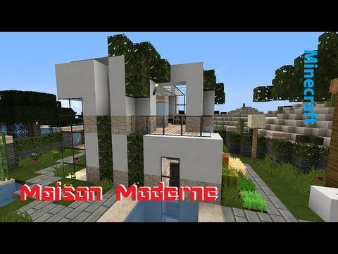 minecraft modern house 10x10 maison moderne youtube. Black Bedroom Furniture Sets. Home Design Ideas
