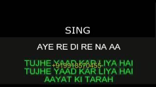 Aayat Karaoke Video Lyrics Without Alap