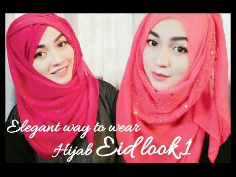 Eid Hijab Style Tutorial Part 1 Parizaad Youtube
