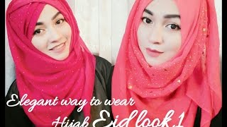 Eid Hijab Style tutorial part 1| ParizaaD