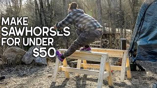 How-to Build The Best Sawhorses Including Minimal Tools for Under $50