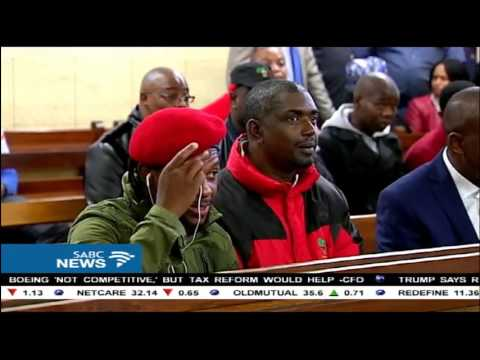 EFF's Malema appears at Newcastle magistrates court on an incitement case