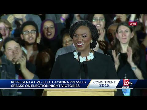 Victory speech from Massachusetts\' first black congresswoman