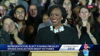 Victory speech from Massachusetts\' first black congresswoman