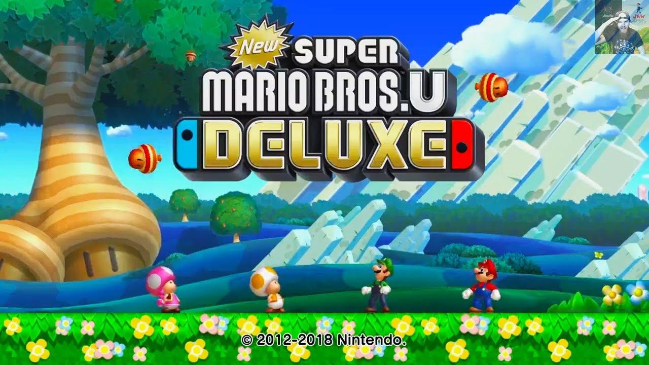 New Super Mario Bros U Deluxe for Nintendo Switch Announced!
