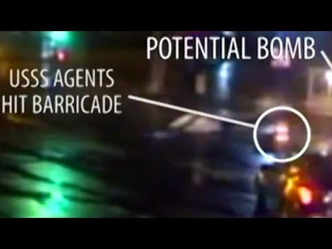 Video shows Secret Service agents driving into WH barrier