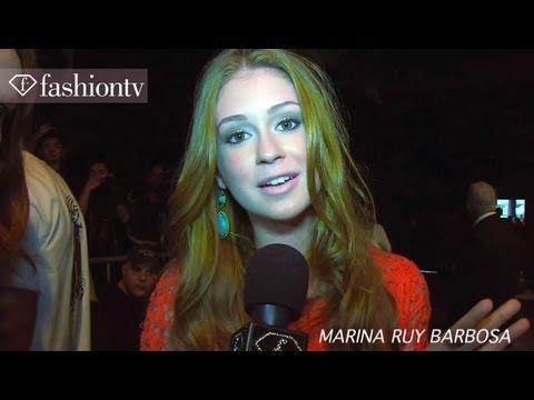 Marina Ruy Barbosa & Fiorella Mattheis Front Row at Animale Fall/Winter 2012/13 SPFW   FashionTV