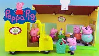 Peppa Pig Jouets Van Supermarché Supermarket Truck Playset