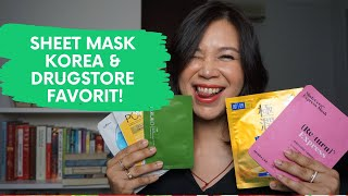 Review 5 Sheet Mask Brand Drugstore & Korea + Secret Giveaway!