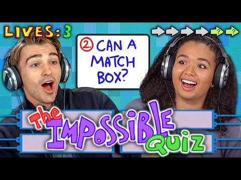 Thumbnail: THE IMPOSSIBLE QUIZ (REACT: Gaming)