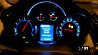 Chevrolet Cruze 1.4 AT LTZ Acceleration 0-100 km/h  (Measured  by Racelogic)