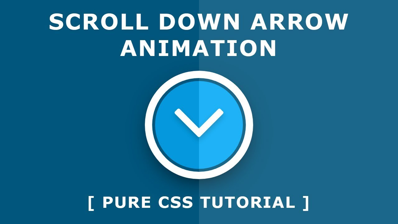 Css Scroll Down Arrow Animation - Font Awesome Icon - Css Animation Effects  - Tutorial