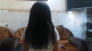 طريقة خرافية جعلت شعرها طويل كثيف لامع مفرود بوصفة منزلية بسيطة