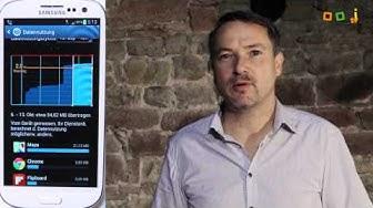 Android Datenvolumen überwachen und einstellen und viel Geld sparen!