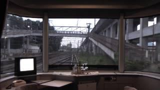 下り寝台特急カシオペア 宇都宮発車から郡山駅到着までの 1号車展望室か...