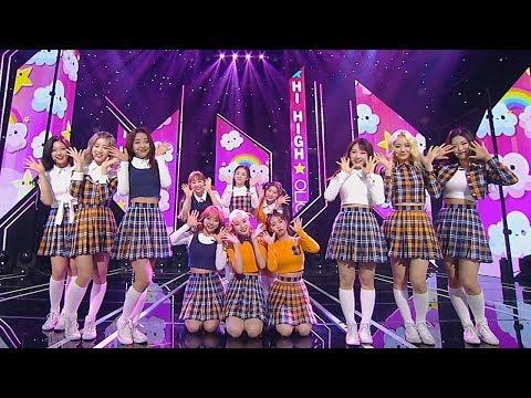 LOONA (gadis Bulan Ini) - Hi High @ Lagu Populer Inkigayo 20181014