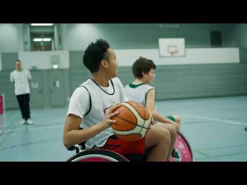 Social Media Post: Neue Sporterfahrung Rollstuhlbasketball