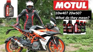 What does 10w40 mean? Understanding Engine OIL Grade Numbers. Motorcycle Tips.