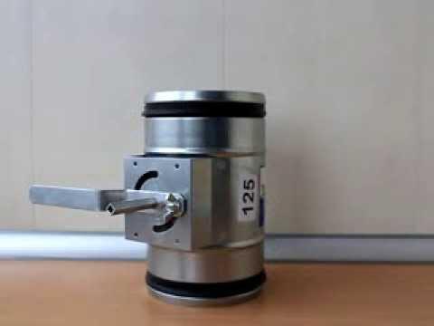 Воздушная заслонка вентиляционная с электроприводом