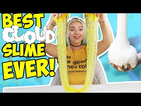 DIY BEST CLOUD SIIME EVER! Slime Basics: How To Make The BEST Cloud Slime!