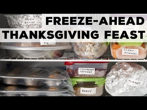 FreezeAhead Thanksgiving Feast  Food Network