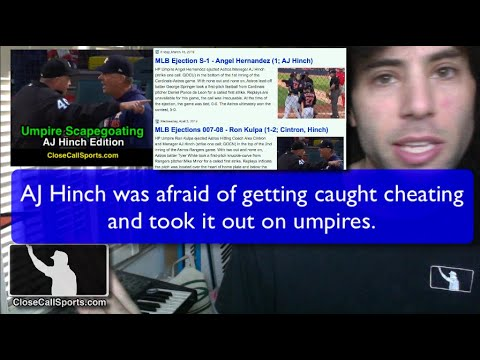 AJ Hinch's Umpire Scapegoating - Cheating As An Excuse
