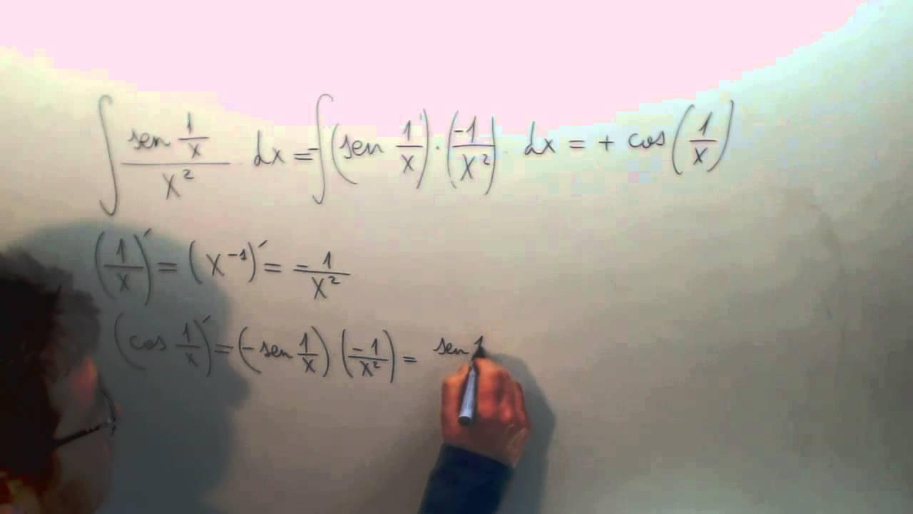 Integral Cambio De Variable Sen 1/x Partido X2 Matematicas