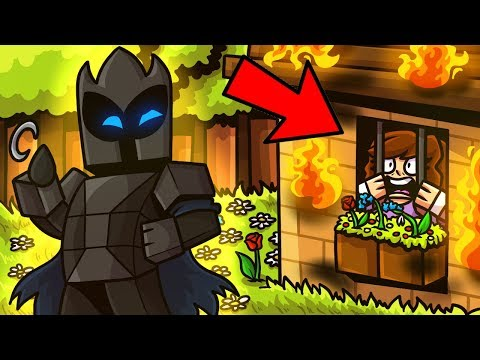 Minecraft: TRAPPING A NOOB IN A BURNING HOUSE! - Mini-Game