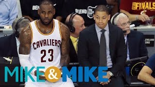 Tyronn lue says he made call to move kevin love to center, not lebron james | mike & mike | espn