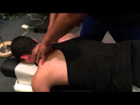 Chiropractic Adjustment on Weightlifter - Neck, Back, Hip