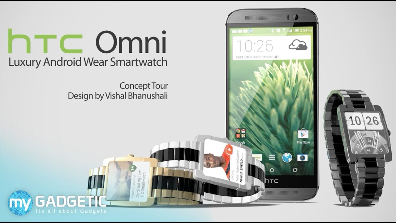 HTC Omni a Luxury Android Wear Smartwatch Concept Tour ...