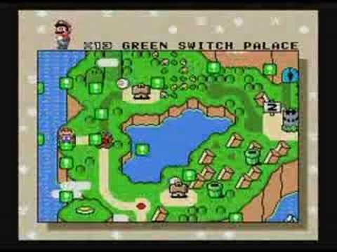 Super Mario World/Key locations /Under Map