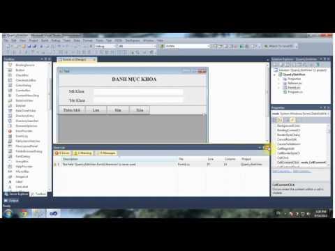 Lập Trình C# với Với ADO.NET Thêm-Lưu-Sửa-Xóa [Bài 1]