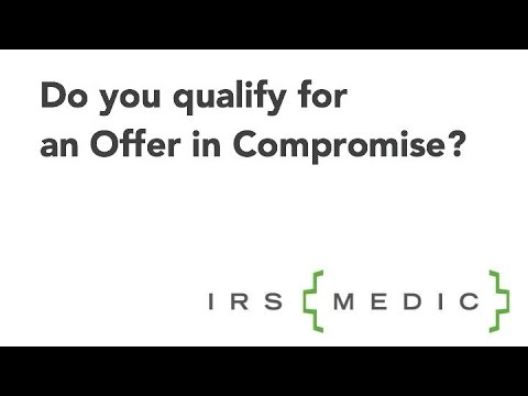 Do I Qualify For An Irs Offer In Compromise Youtube
