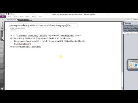 Video 0: An Introduction to Relational Databases
