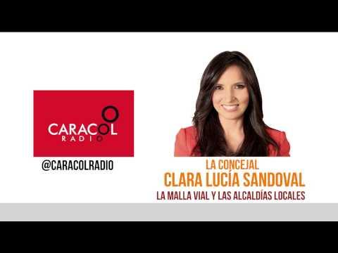 Caracol Radio- Concejal Clara Lucia Sandoval habla sobre deterioro de la Malla vial en Bogotá
