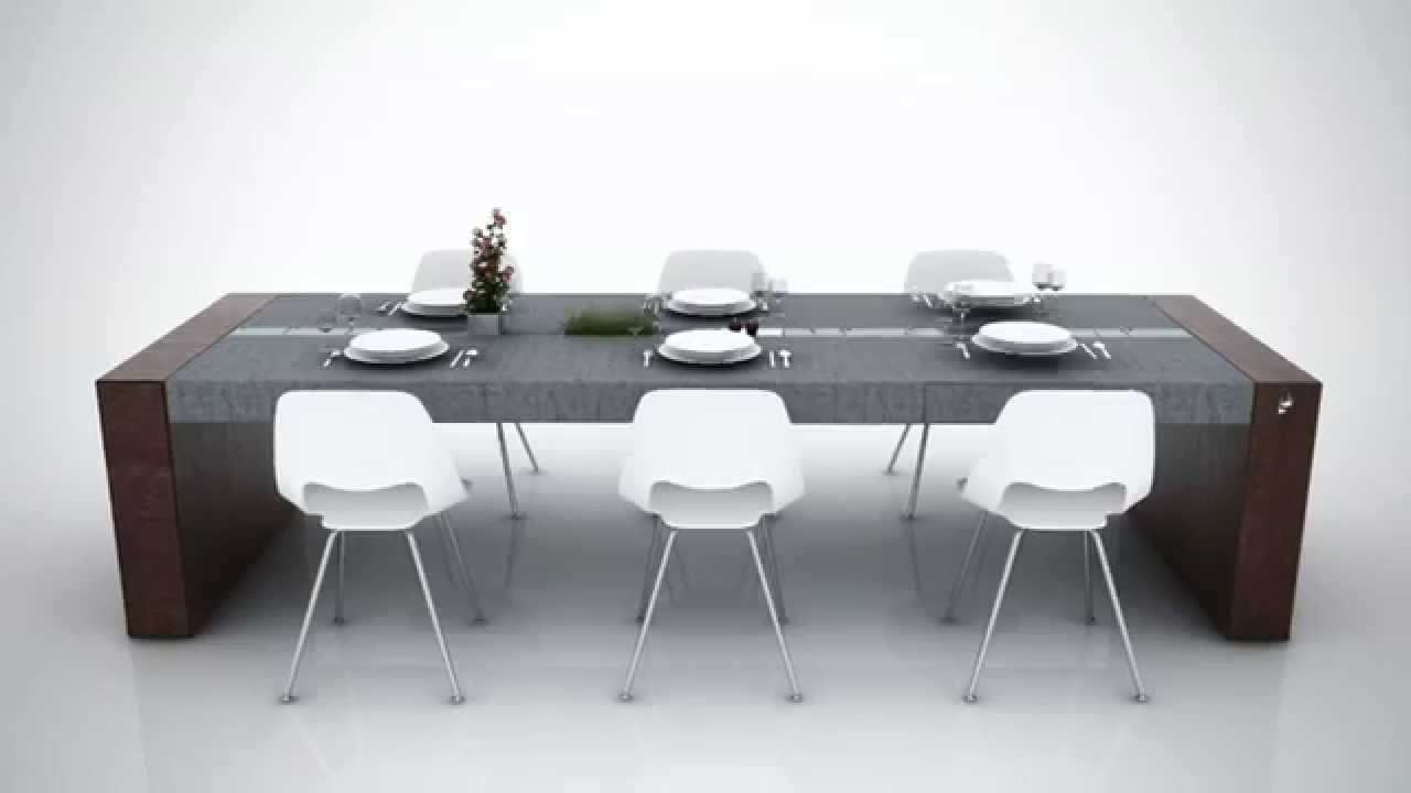 Tavolo Di Alfonso Concrete Dining Table YouTube - Concrete dining room table