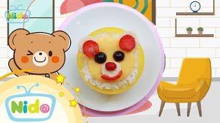 Món ăn ngọt ngào: Hướng Dẫn Làm Bento Hình Con Gấu Misa - Bé vào bếp cùng mẹ | Nido Channel