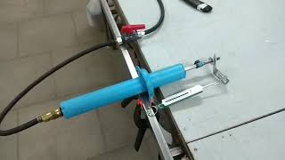 самодельный пневмо цилиндр, тест и сравнение