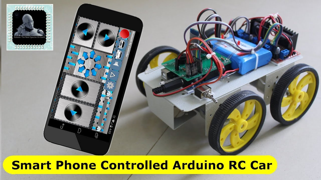 Smartphone controlled Arduino 4WD RC Robot Car (Bluetooth) - Robots