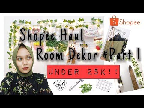 shopee haul room dekor under 25k #part 1 - youtube