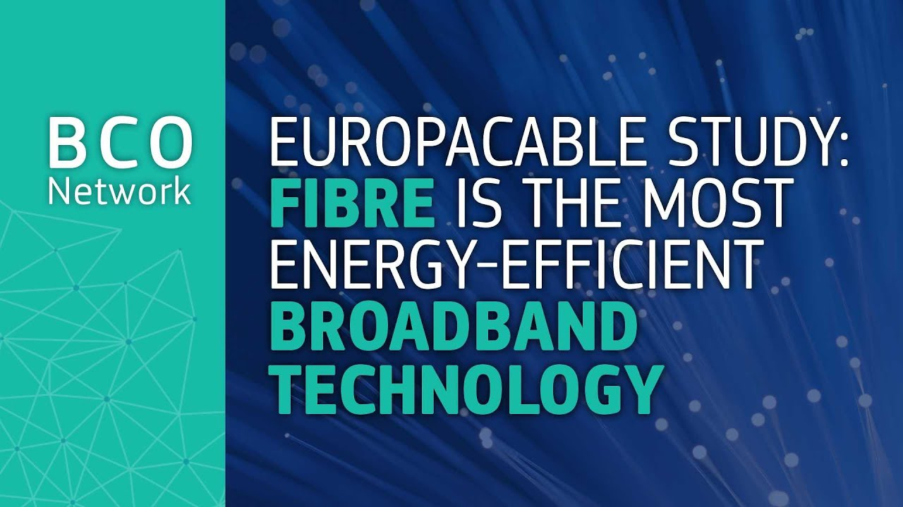 Fibre is the most energy efficient broadband technology