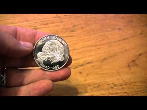 Bullion Bug - John Lennon 1 ounce Silver Round and Gold gram Bar buy sell