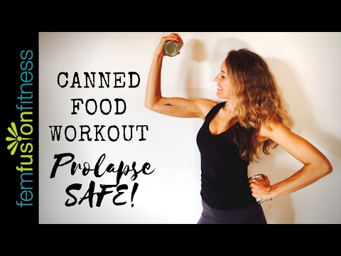 Canned Food Workout ❤ Strong, Lean Upper Body (No Weights! Prolapse-Safe!)