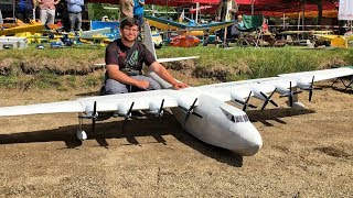 GIGANTIC XXXL RC WATERPLANE HUGHES H4 HERCULES SPRUCE GOOSE SPECTACULAR FLIGHT DEMONSTRATION
