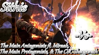 Skyrim Battles -1/2- The Protagonists, The CoC Sheogorath & The Antagonists ft. Miraak vs Sithis